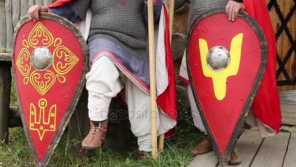 Zwei Ritter in hauberk