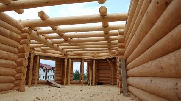 Superior Bau Des Holzhauses U2014 Stockvideo