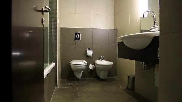 Jezdec výstřel interiéru malé koupelny