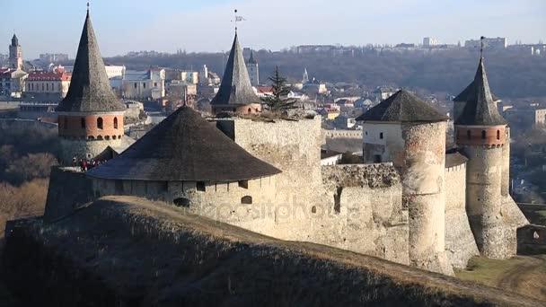 kamennou pevnost ve městě Kamianets-Podilskyi