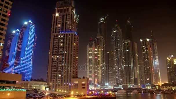 4K Futuristic Night Dubai Marina