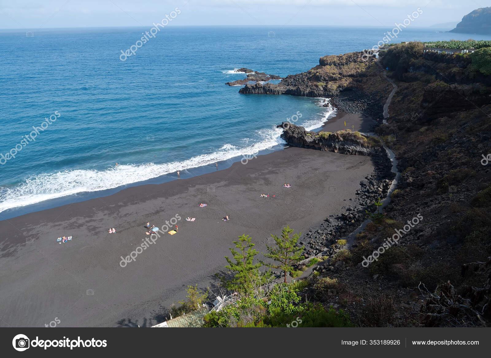 People Beach Black Volcanic Sand Tenerife Island Canary Islands Atlantic Stock Photo Image By C Ddcoral 353189926
