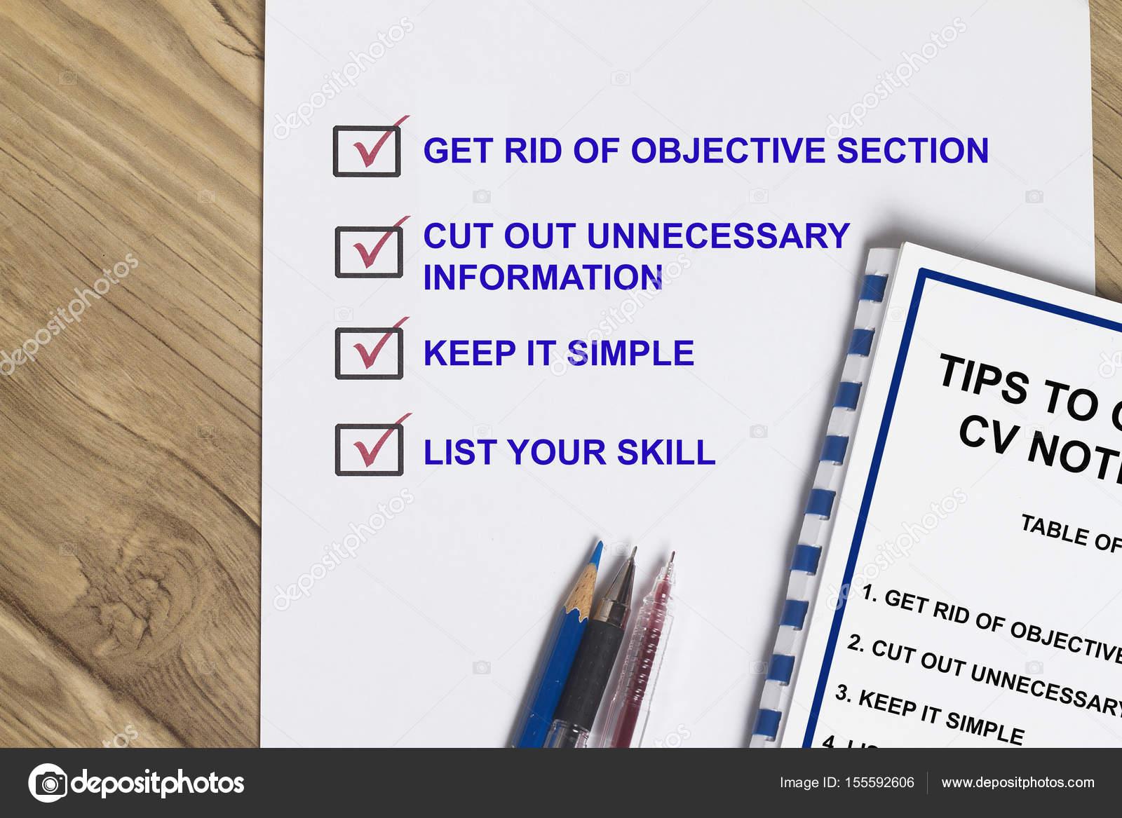 Consejos para mejorar tu currículum — Foto de stock © fiftycents ...