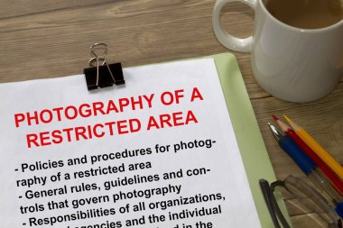 Phtography of a restricted site