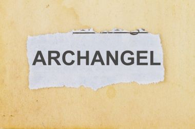 Archangel - cut out of a newspaper