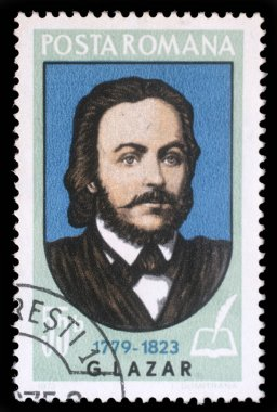 Stamp printed in Romania shows Gheorghe Lazar