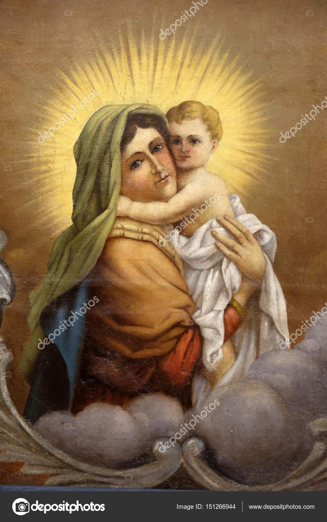 Imágenes Maria Y El Niño Jesus Virgen María Con Niño Jesús Foto