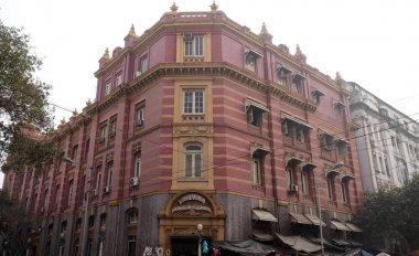 An aging, decaying, ex-colonial tenement block in Kolkata, India