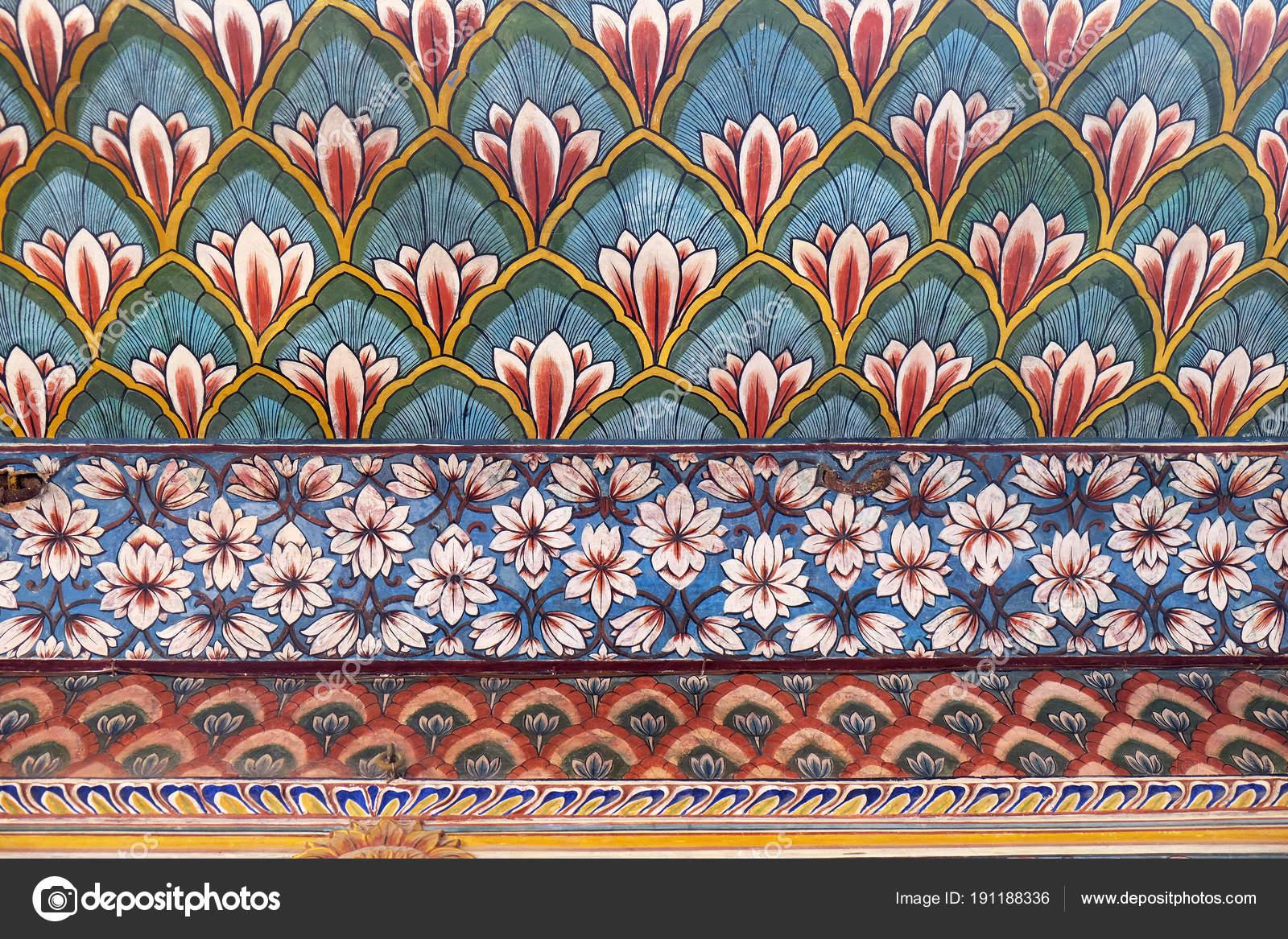 Wall Paintings Chandra Mahal Jaipur City Palace Jaipur Rajasthan