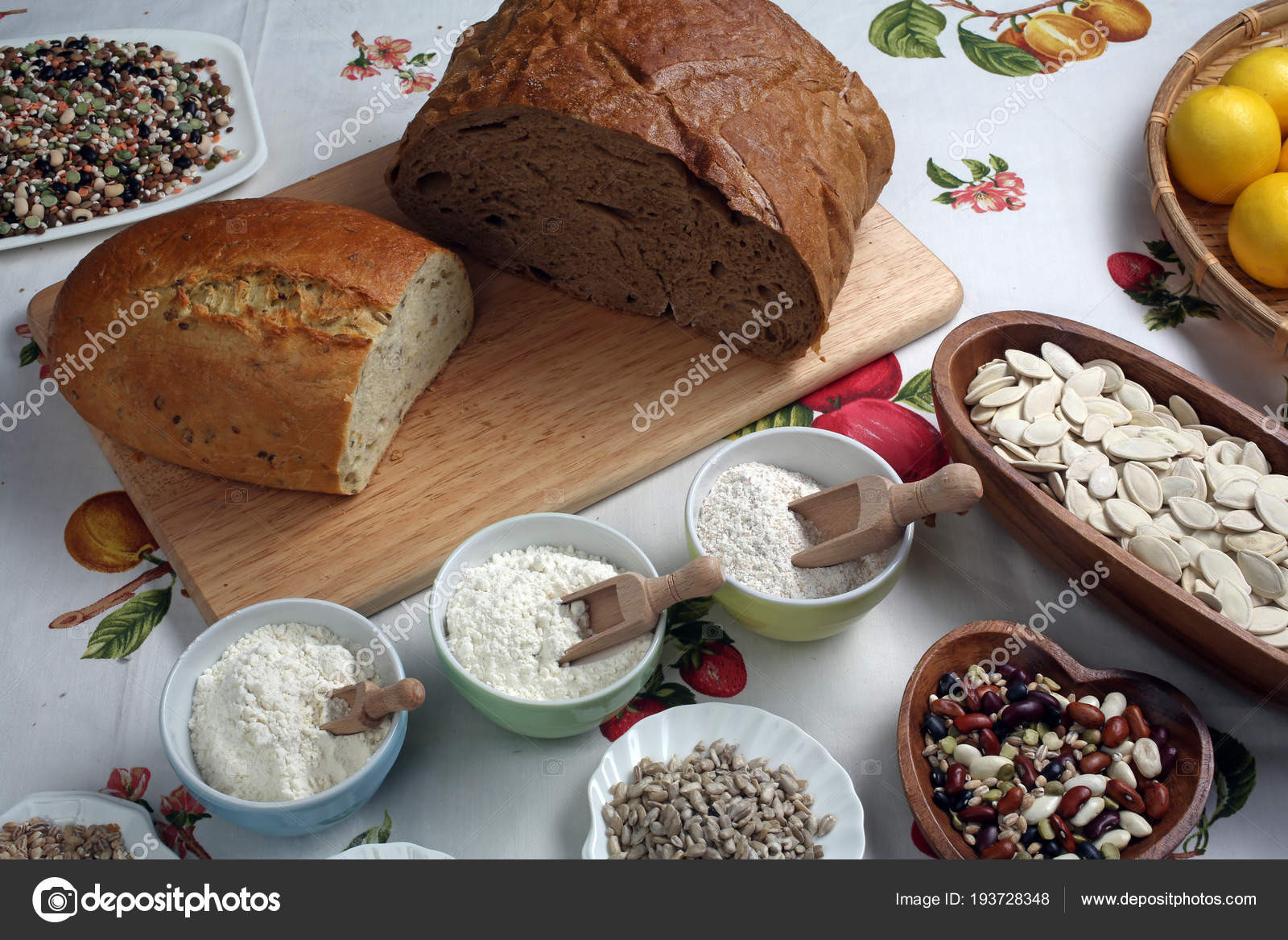 Ingredientes de la harina de trigon