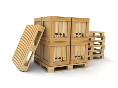 Cargo box and pallet