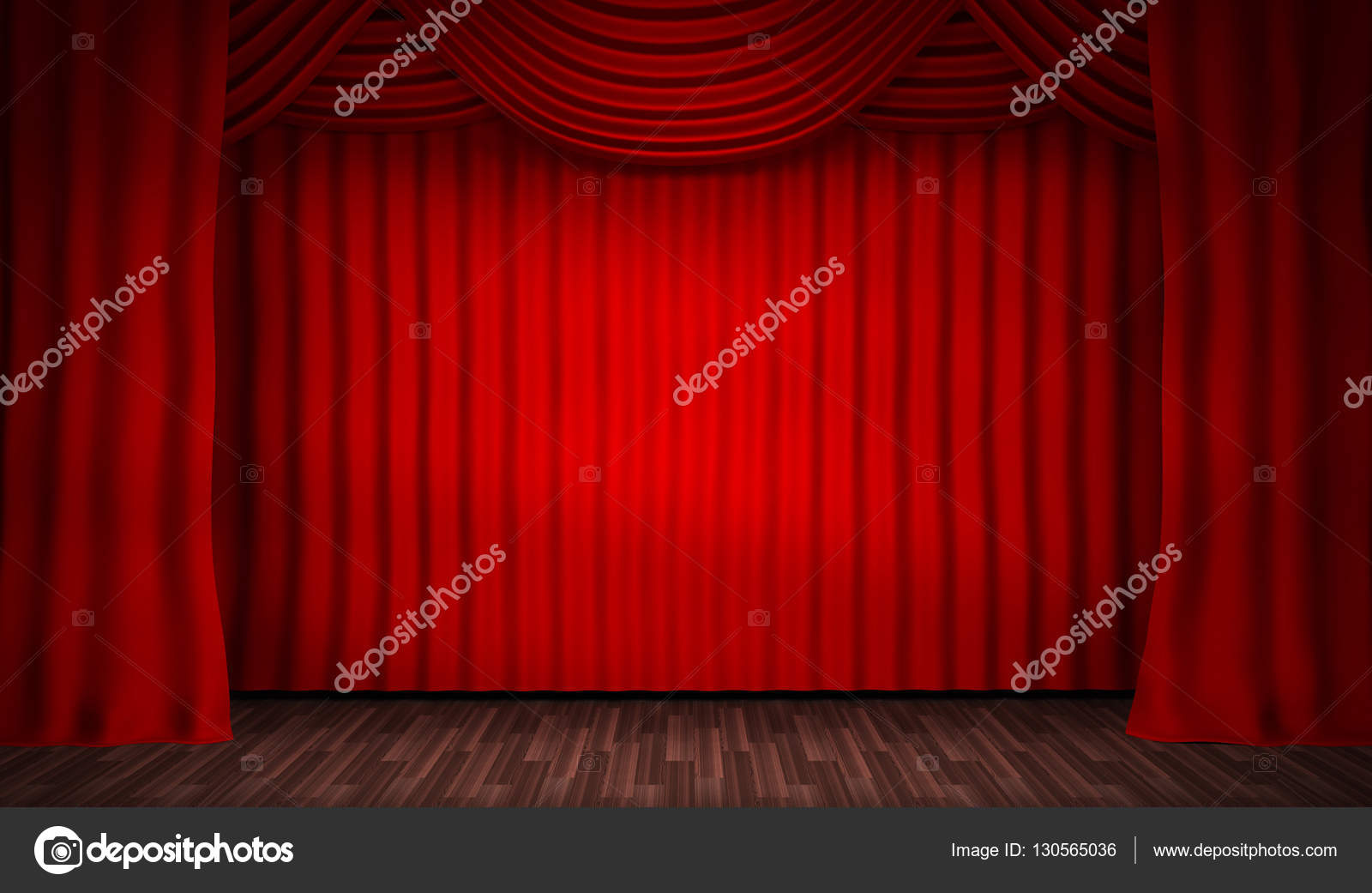 Scène pour les spectacles et le rideau rouge — Photographie Vladru ...