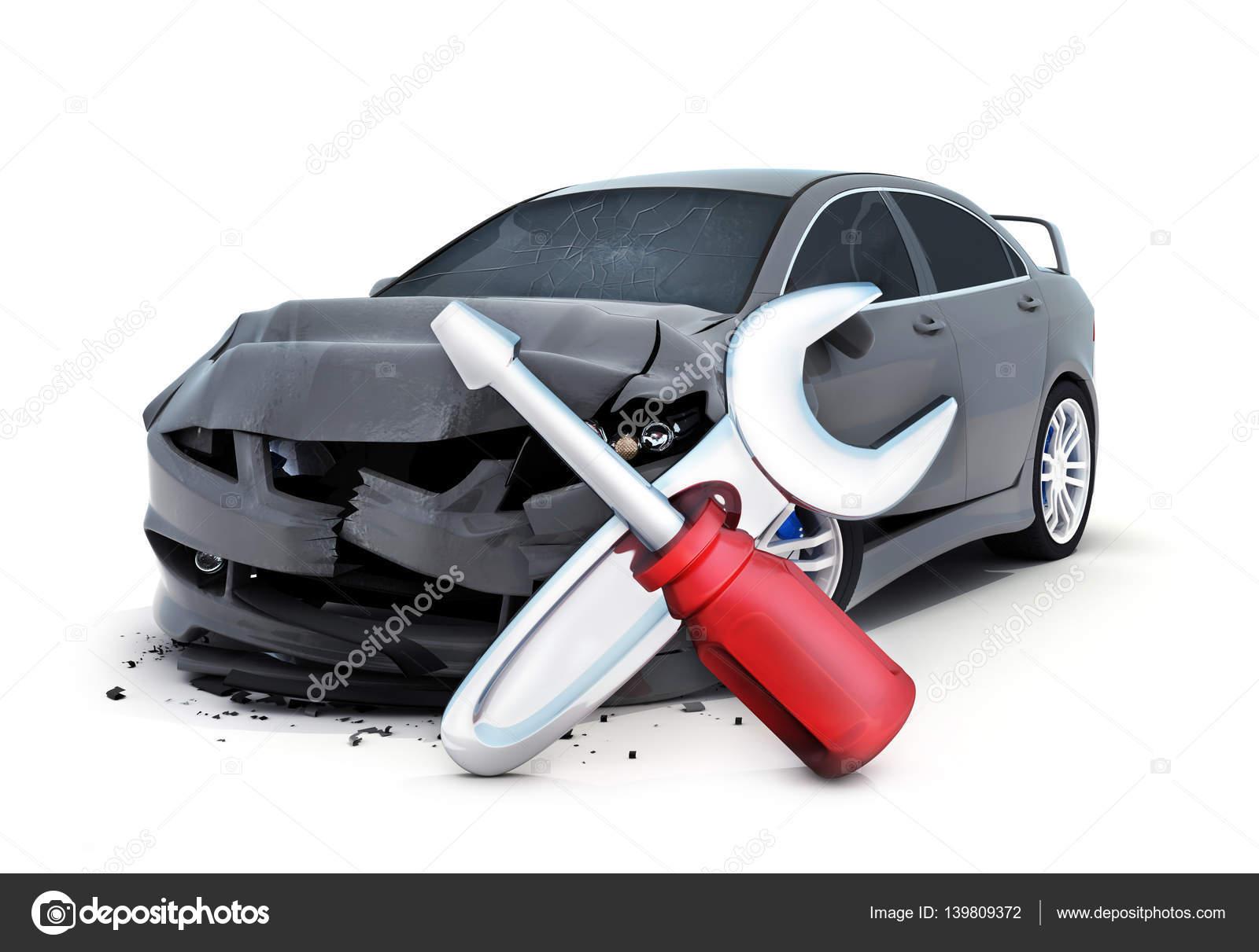 Autounfall und Reparatur Symbol — Stockfoto © Vladru #139809372