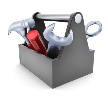 Toolbox symbol on white background