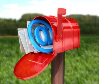 Abstract E-mail Red mailbox