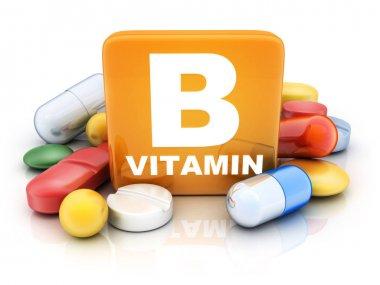 Many tablets and vitamin B
