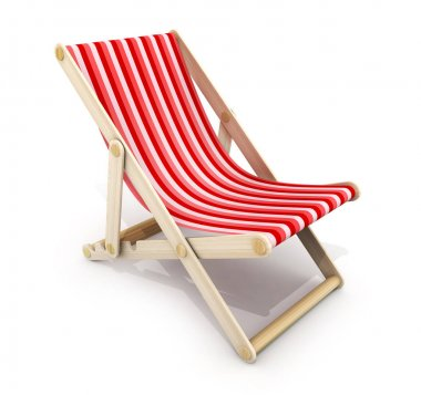 One red lounger