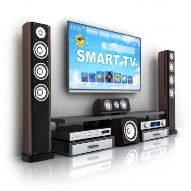 Modern smart TV and hi-fi