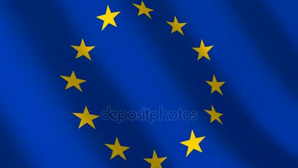 Flag euro union, seamless loop