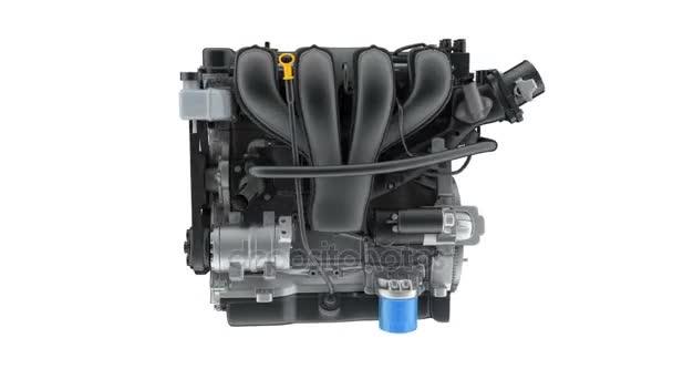 Engine car. seamless loop.