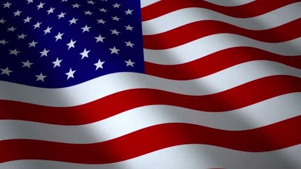 USA flag, seamless loop.