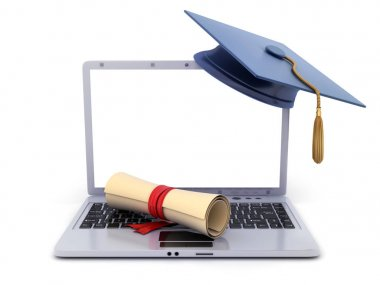 Laptop and sign e-learning