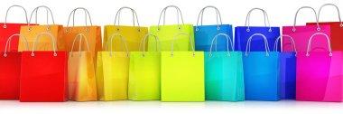 Many shopping bag multicolored