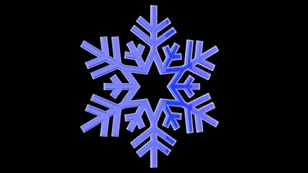 Animált stilizált hópehely