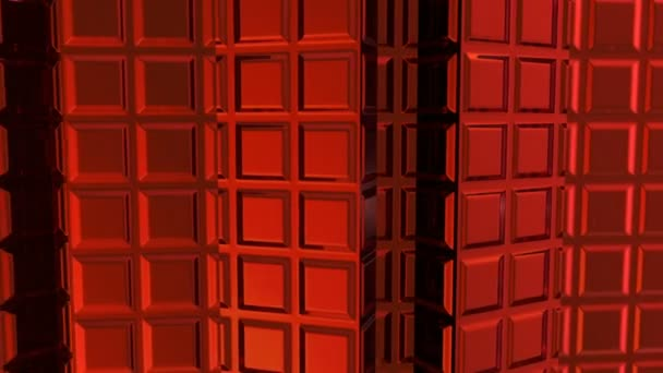 Abstract animated red background with lighted invoice 3d objects computer render