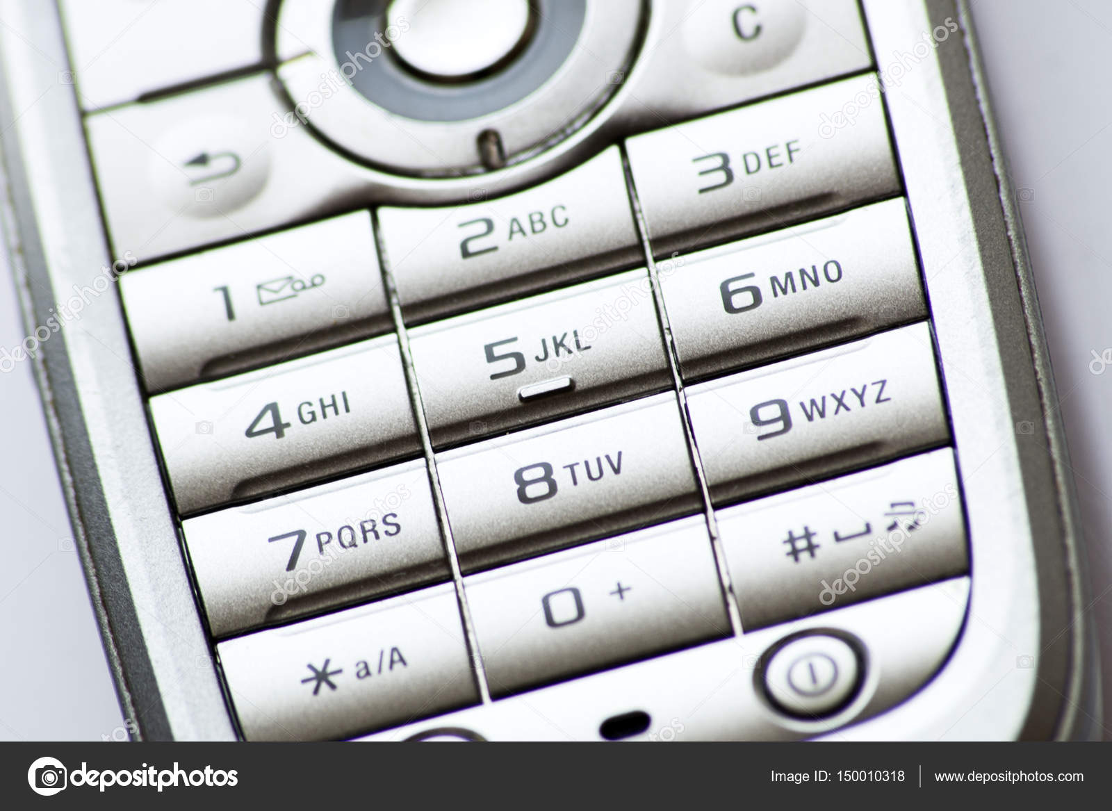 Old cell phone numeric keyboard — Stock Photo © marcinm111 #150010318