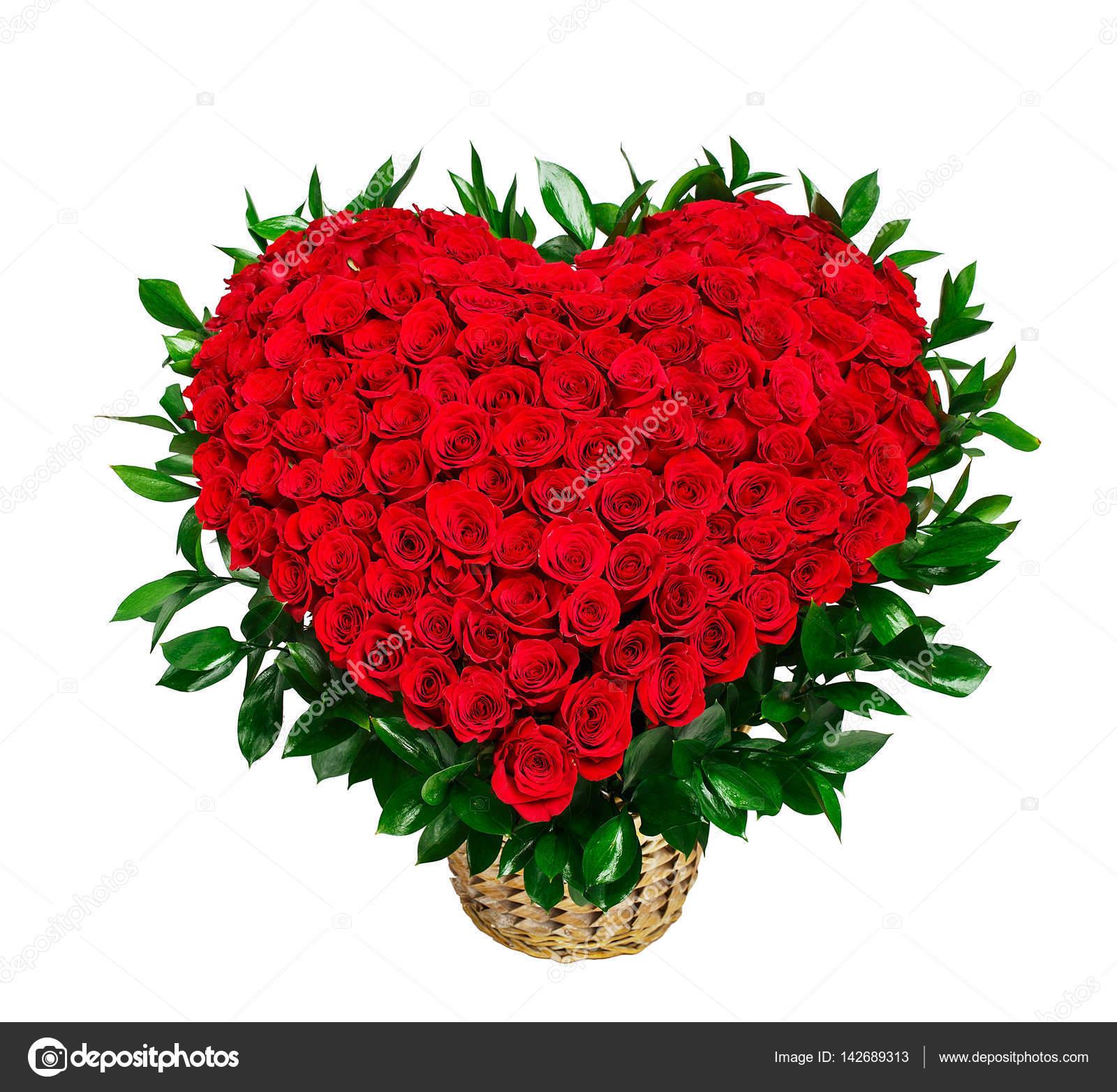 Bouquet De Roses Rouges En Forme De Coeur Photographie Vankad