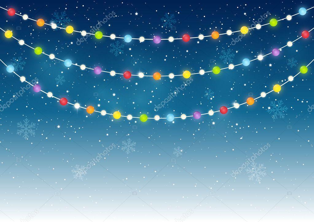 Weihnachtslicht am Sternenhimmel — Stockvektor © Huhli13 #127990886