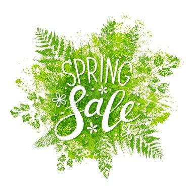 Spring sale message