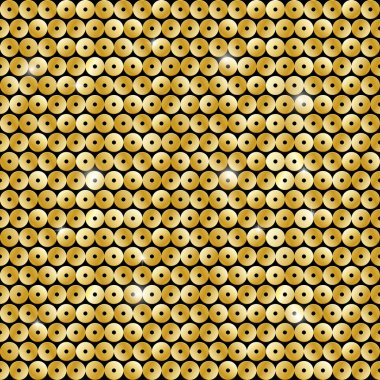 Seamless pattern with sequins