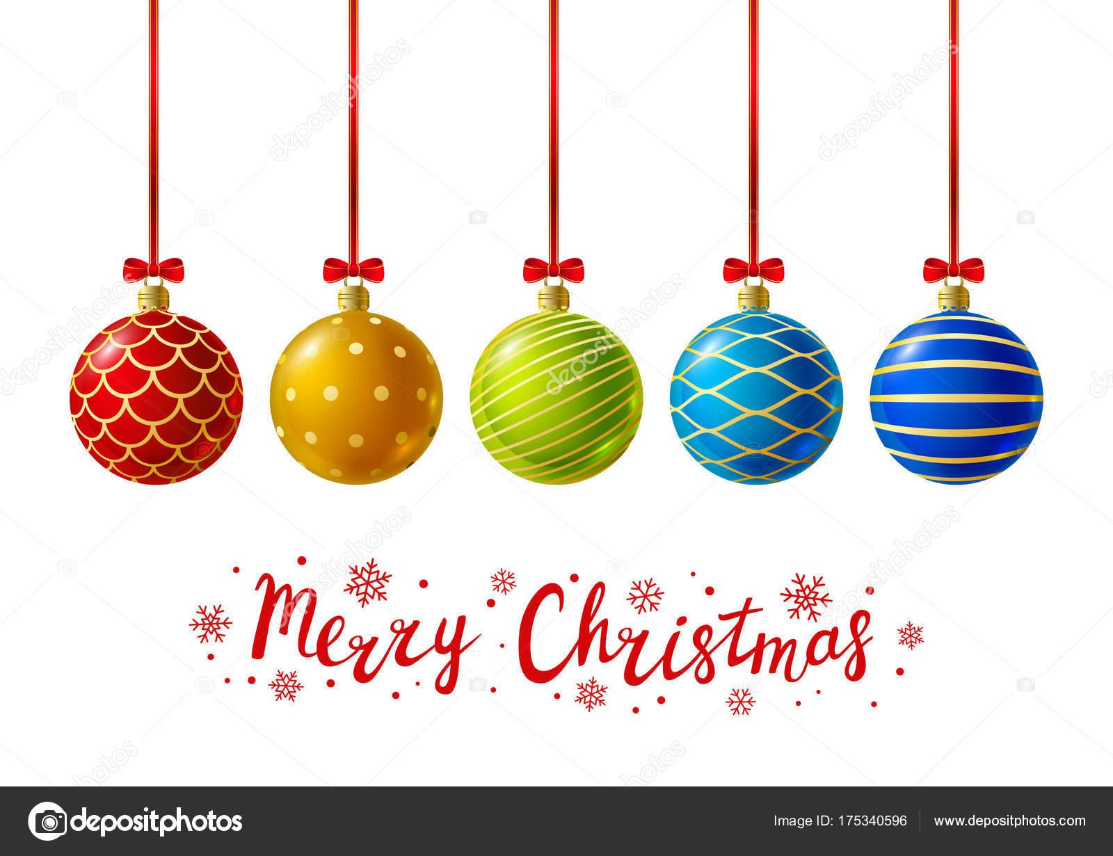 Disegni Di Natale Vettoriali.Palle Di Natale Di Colore Per Il Vostro Disegno Vettoriali