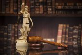 Fotografie Antique statue of justice