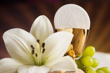 Christianity religion concept sacrament communion background stock vector