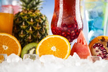 Summer drinks and Fresh tropical fruits