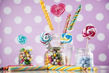candies of various colors