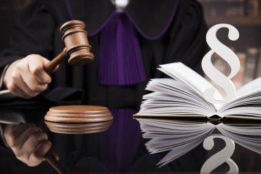 Court gavel,Law theme