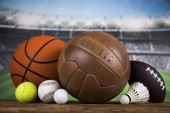 Fotografie Balls, Sports Equipment, Winner background