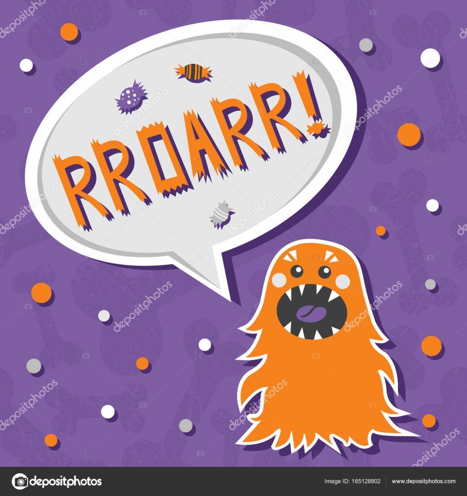 Beängstigend, aber süß und lieblich Halloween Monster Appetit auf ...