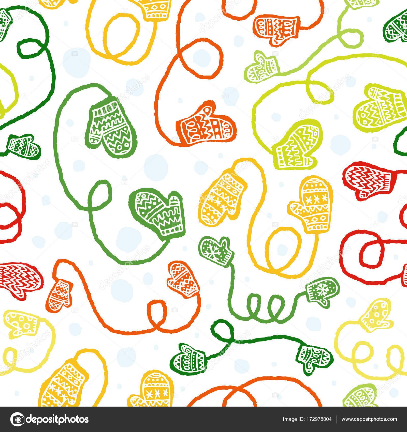 Patrón sin fisuras vector con guantes de colores — Archivo Imágenes ...