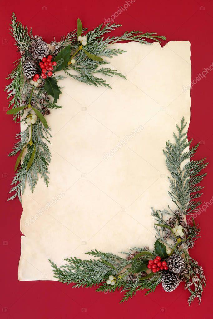 Winter Hintergrund Rahmen — Stockfoto © marilyna #129469690