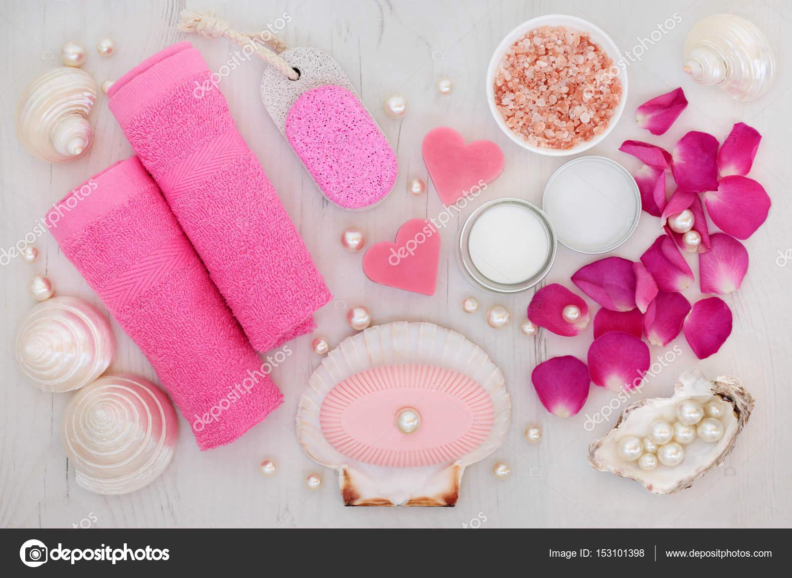 Badkamer en wellness beauty behandeling accessoires u stockfoto