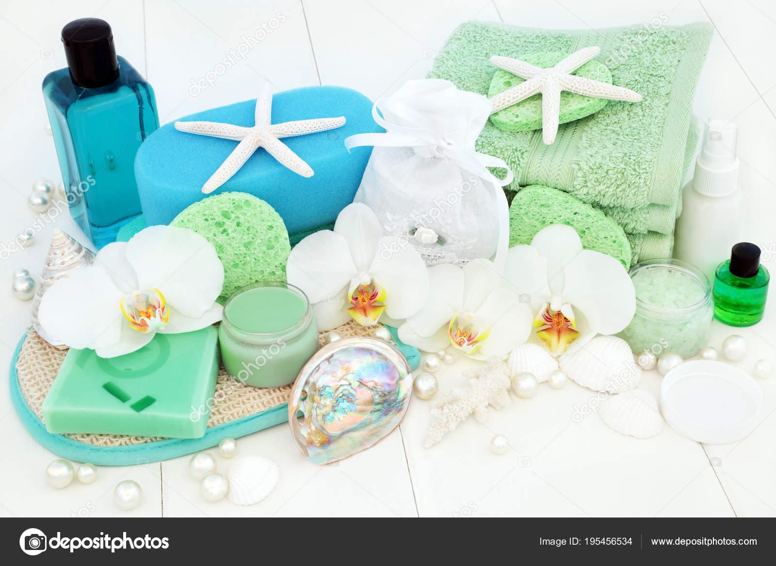 Badkamer en wellness beauty behandeling u stockfoto marilyna