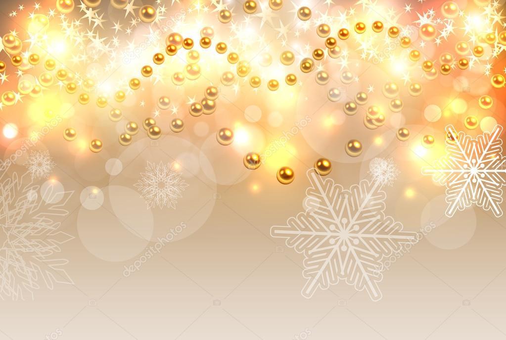 Sfondi Natalizi Oro.Illustrazione Sfondi Oro Natale Luci Di Natale Sfondo Oro