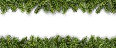 Christmas background green pine tree