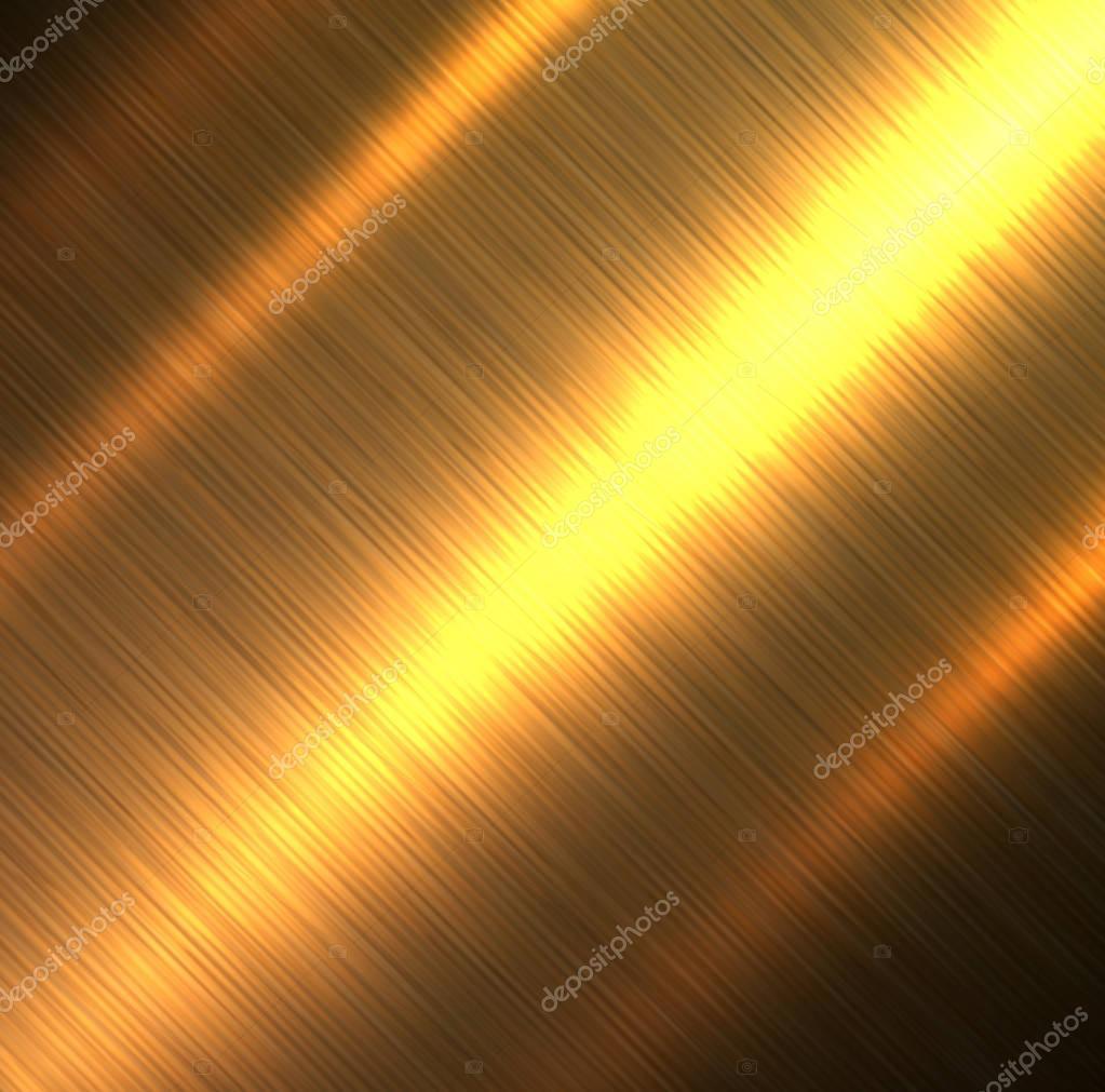 Metal background, gold brushed