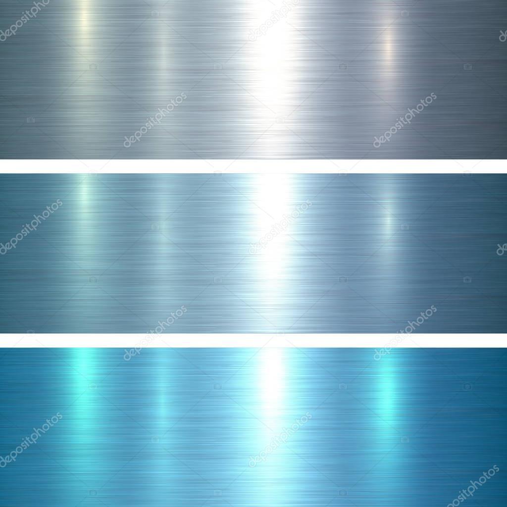 Metal textures blue